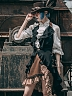 Western Captain Long Vest by Mr Yi's Steamland