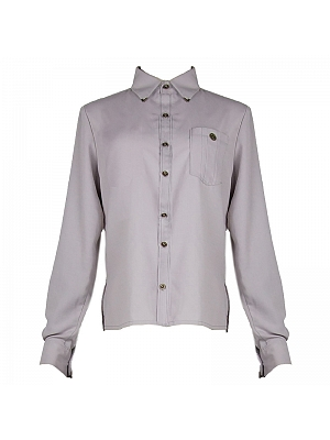 Light Grey Netural Shirt by Mr Yi's Steamland