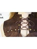 Steampunk Sleeveless Lace-up Top by Mr Yi's Steamland