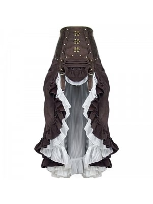 Steampunk Victoria Ciffon High-waist Skirt by Mr Yi's Steamland