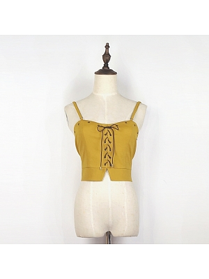 Steampunk Lace-up Short Top by Mr Yi's Steamland