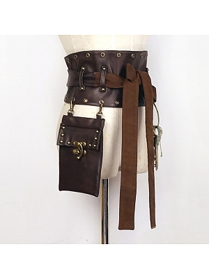 Steampunk Japanese Style Girdle With Bag by Mr Yi's Steamland