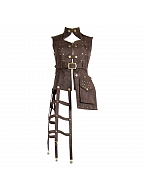 Steampunk Cage-shaped Rivet Vest by Mr Yi's Steamland