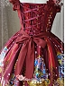Ruffled Straps and Rose Decorated Neckline Beauty and Beast Collection JSK by Magic Tea Party