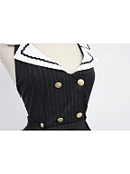 Custom Size Available Sailor Collar Criss-cross Back College Style Lolita JSK - Morningstar Idol Academy by Souffle Song