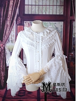 Preorder Gorgeous Ruffled Neckline and Big Trumpet Sleeve Blouse by Mousita
