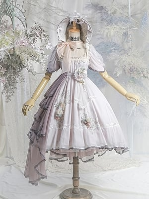 Scarborough Fair Empire Waist Lolita Dress OP Full Set by Neo Ludwig