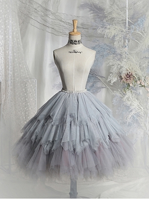 Scarborough Fair Lolita Skirt Gradient Tulle Petticoat by Neo Ludwig