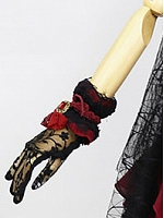 Pre-order The Mountain Spirit Black and Red Wristcuffs by Nine Odes
