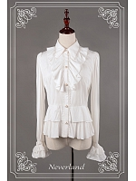 Duke Collar Long Sleeve Cotton Lolita Shirt-Margerat by Souffle Song