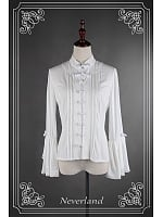 Chinese Style Trumpet Sleeves Buckle Decorated Lolita Shirt - Fantasy Dream by Souffle Song