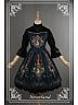 Gorgeous High Collar Oil Painting Printed Lolita OP Dress - Ode To Rococo by Souffle Song