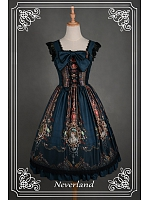 Custom Size Available Vintage Tulle Overlay Ruched  Wide  Straps JSK - Ode To Rococo by Souffle Song