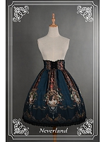 Vintage High Waist  Lace Printed  Lolita Skirt / SK - Ode To Rococo by Souffle Song