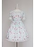 Sweet Ruffled Collar Short Sleeves with Lace Decoration Lolita OP Dress - Sweet Afternoon Tea by Souffle Song