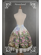 Custom Size Available Sweet Lolita Oil Painting Printed High Waist SK - The Song of The Lark by Souffle Song