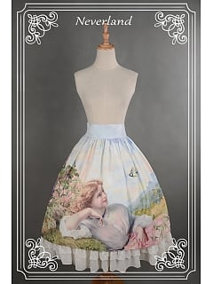 Sweet  Lolita Oil Painting Printed High Waist Skirt / SK  -  The Song of The Lark by Souffle Song