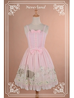 Sweet Bow-Knot Decorated Spaghetti Straps Chiffon Jumper Skirt / JSK  - Angel Serenade by Souffle Song