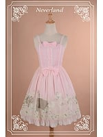 Custom Size Available Sweet Bow-Knot Decorated Spaghetti Straps Chiffon Jumper Skirt / JSK  - Angel Serenade by Souffle Song