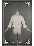 Lolita Multi-Use Short Shirt with Ruffle - Whisper Of The Strings by Souffle Song