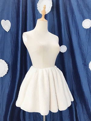 Winter Short Plush Petticoat by Souffle Song