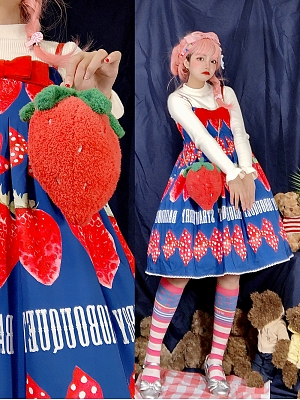 Big Strawberry Bag by Souffle Song