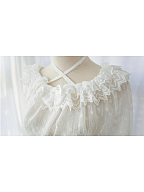 Small Dessert Dot Sheer Lace Top by Souffle Song