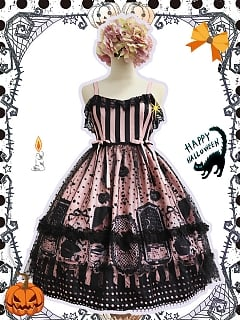 Witch Cat Halloween Lolita Dress JSK by Souffle Song