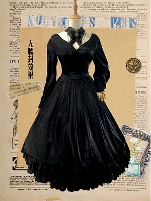 Elegant Miss Imperial Capital Vintage Dress OP by Souffle Song