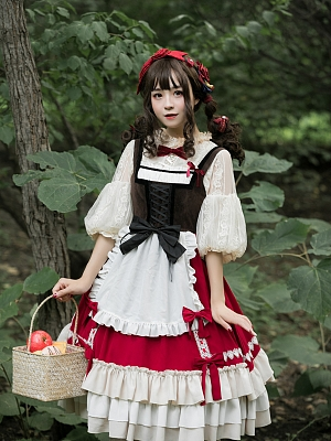 Little Red Riding Hood Lolita Dress JSK by Souffle Song