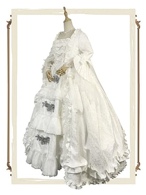 Rococo Fashion Made-to-Order Historical Princess Costume Ball Gown - Queen Mary by Souffle Song