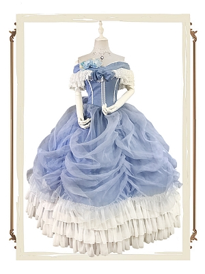 Custom Size Available Princess Costume Vintage Victorian Ball Gown - Princess Cinderella by Souffle Song