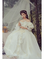Made-to-Order Vintage Ball Gown Wedding Dress Princess Cici by Souffle Song