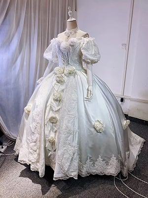 [NOT FOR SALE RIGHT NOW] Made-to-Order Vintage Ball Gown Wedding Dress