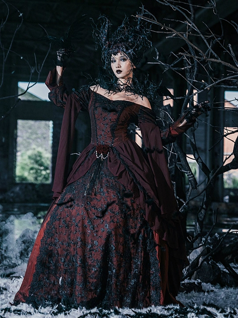Made-to-Order Gothic Formal Ball Gown Prom Dress by Souffle Song