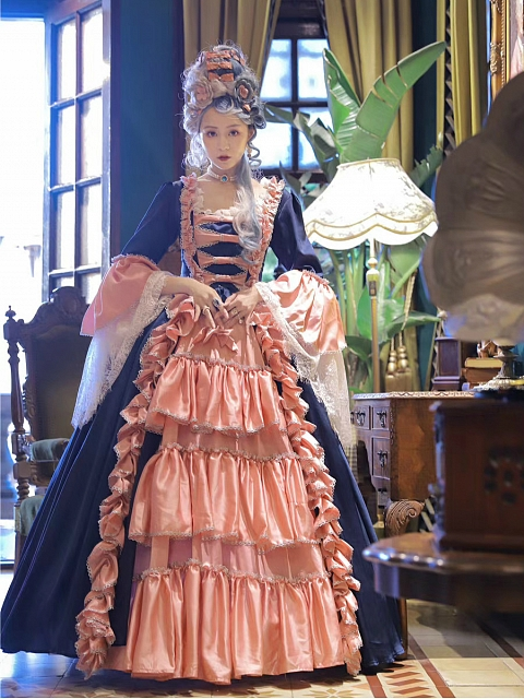 Made-to-Order Rococo Ball Gown Dress Mrs Pompadour by Souffle Song Custom Size Available