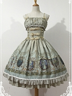 Custom Size Available Chant of Raphael Corset-Style Front JSK by Souffle Song