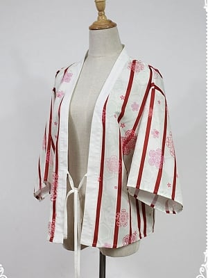 Nine-Tailed Fox Striped Haori by Souffle Song