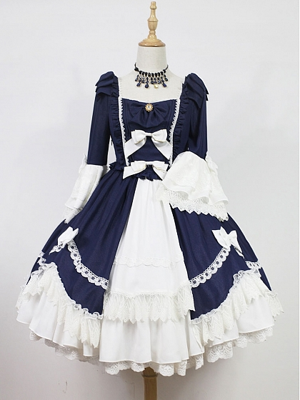 Lambelle's Ball Detachable Bowknot Adorned-Shoulder OP by Souffle Song
