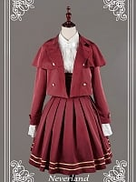 Preppy Stitched Cape Styled Short Coat by Souffle Song