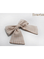 Plaid Bowknot Hairclip B Five Colors Available By Souffle Song