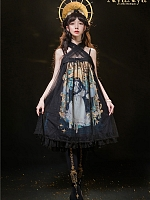 East Sun And Western Moon Cross Grenadine Front JSK by Nya Nya Lolita