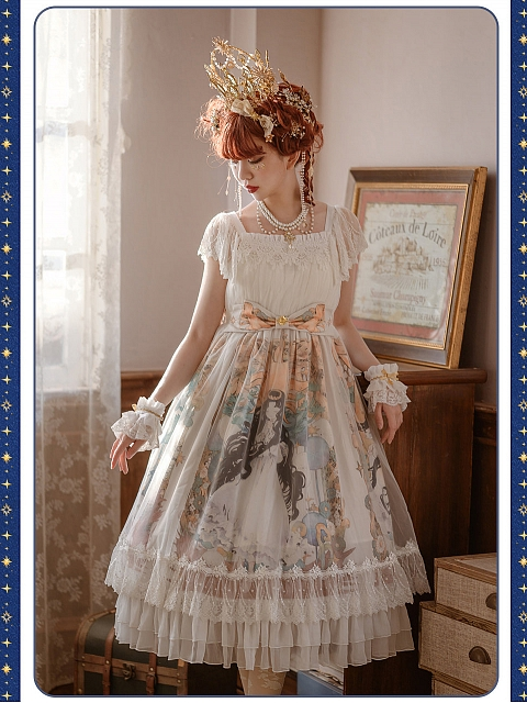 East Sun And Western Moon High Waist OP by Nya Nya Lolita