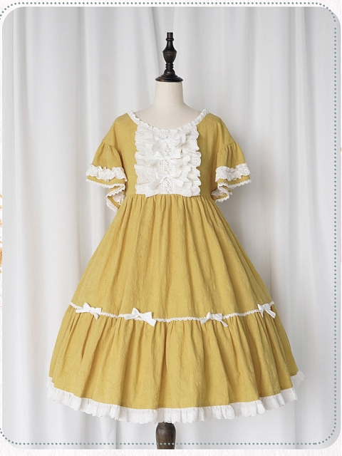Sleeping Flower Girl High Waist OP by Nya Nya Lolita