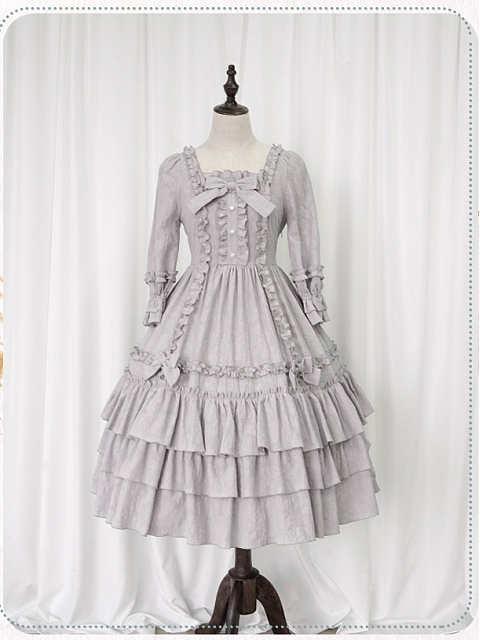 Sleeping Flower Girl Natrual Waist OP by Nya Nya Lolita