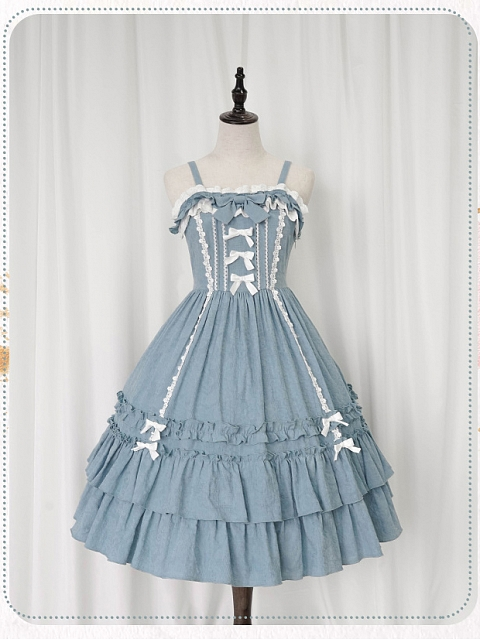 Sleeping Flower Girl Natrual Waist JSK by Nya Nya Lolita