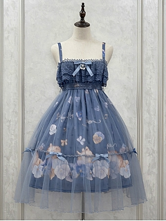 Layered Ruffled Lace Bodice Empire Waist Lolita JSK - Sleeping Kitty by NyaNya Lolita