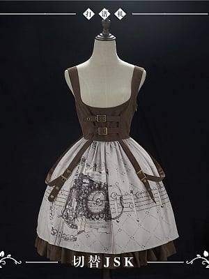 Score Machine Steampunk Lolita Dress JSK by NyaNya Lolita