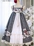 Printed Empire Waist JSK By Nya Nya Lolita