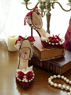 Pointed Stiletto Heels Hanayome Lolita Shoes by One Night Language